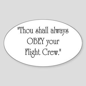 Thou Shall Oval Sticker