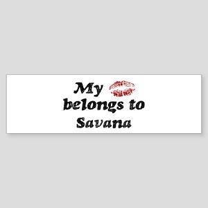 Kiss Belongs to Savana Bumper Sticker