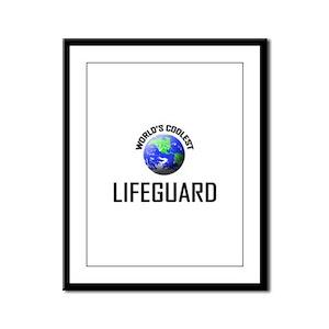 World's Coolest LIFEGUARD Framed Panel Print