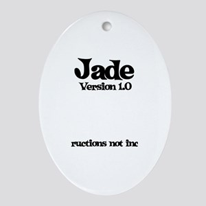 Jade - Version 1.0 Oval Ornament
