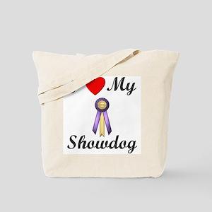 I Love My Showdog (ribbon) Tote Bag