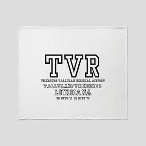 AIRPORT CODES - TVR - VICKSBURG, TAL Throw Blanket