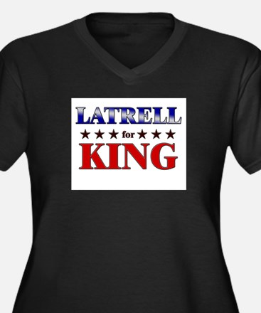 LATRELL for king Women's Plus Size V-Neck Dark T-S