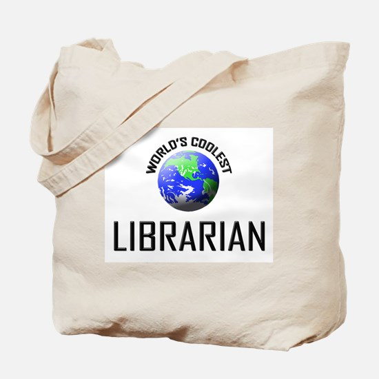World's Coolest LIBRARIAN Tote Bag