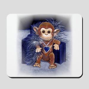 Monkey Watercolor Mousepad