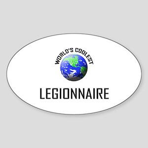 World's Coolest LEGIONNAIRE Oval Sticker