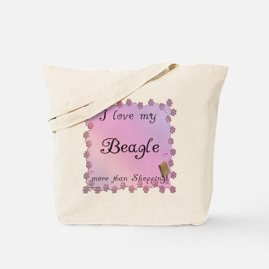 Beagle Shopping Tote Bag