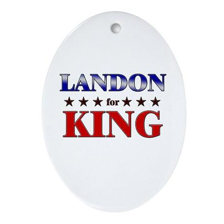 LANDON for king Oval Ornament