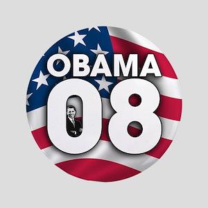 """Obama 08 3.5"""" Button"""