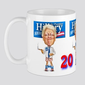#0190 Hillary For President w/Bill, Cigar & Droppe