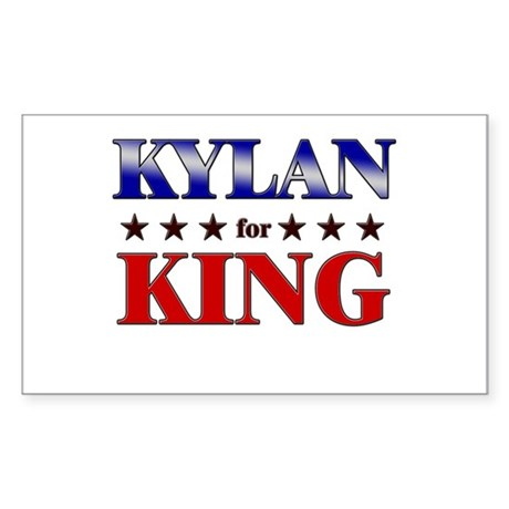 KYLAN for king Rectangle Sticker