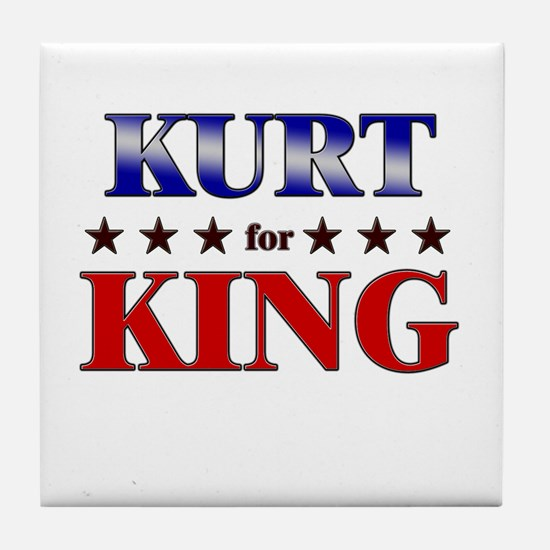 KURT for king Tile Coaster