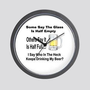 Half Full/Half Empty Wall Clock