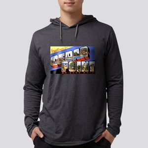 Cedar Point Ohio Greetings (Front) Long Sleeve T-S
