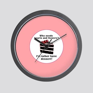 Rather Have Dessert-Lg Wall Clock