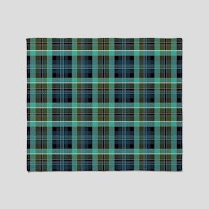 irish plaid Throw Blanket