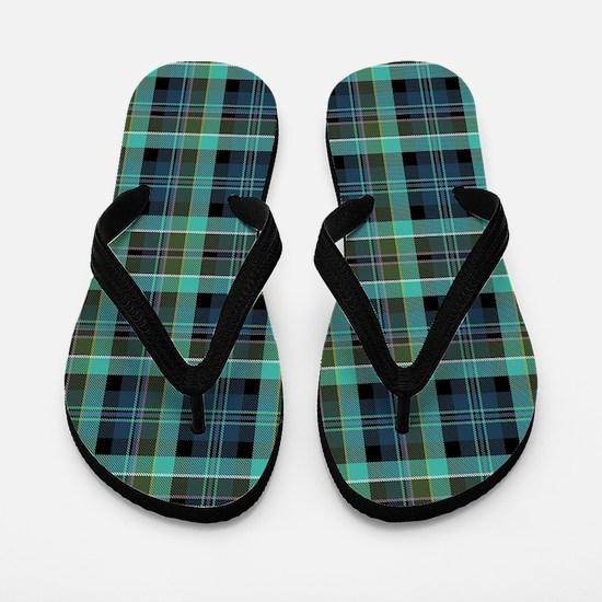 irish plaid Flip Flops