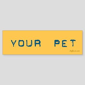 3/3 Be a Hero - Neuter Your Pet Bumper Sticker