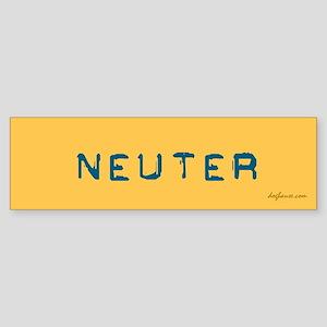 2/3 Be a Hero - Neuter Your Pet Bumper Sticker