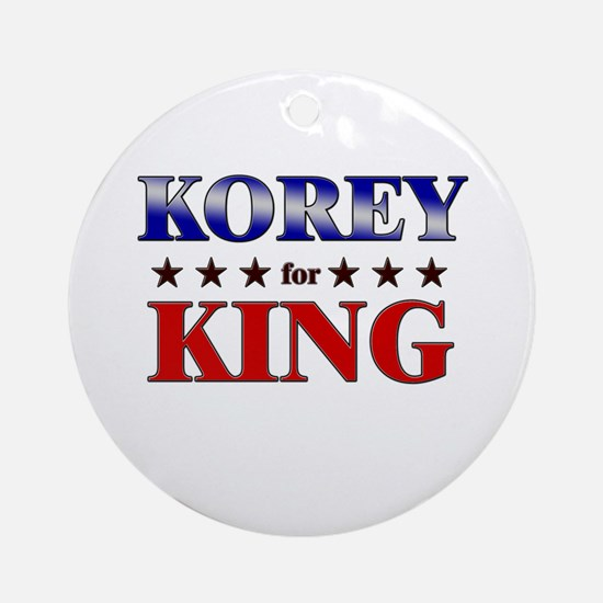 KOREY for king Ornament (Round)