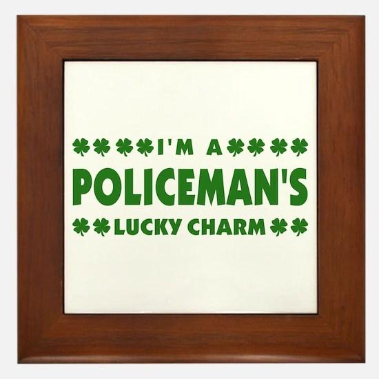 Policeman's Lucky Charm Framed Tile