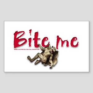 BITE ME GOTHIC STYLE Rectangle Sticker