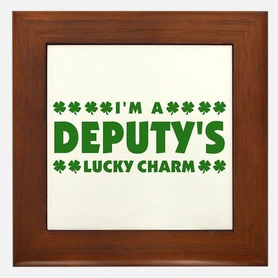 Deputy's Lucky Charm Framed Tile