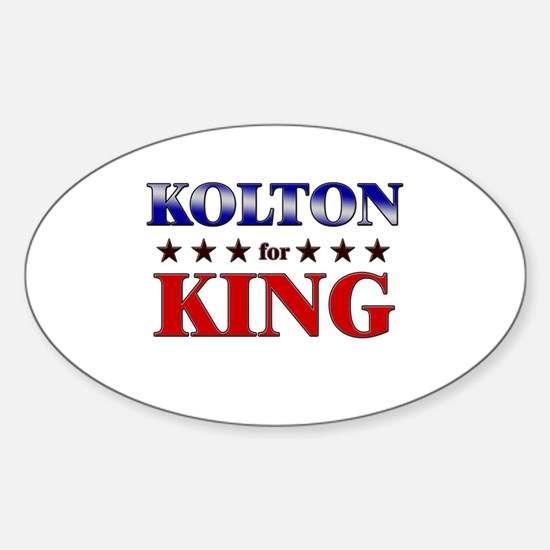 KOLTON for king Oval Decal