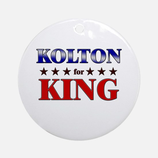 KOLTON for king Ornament (Round)