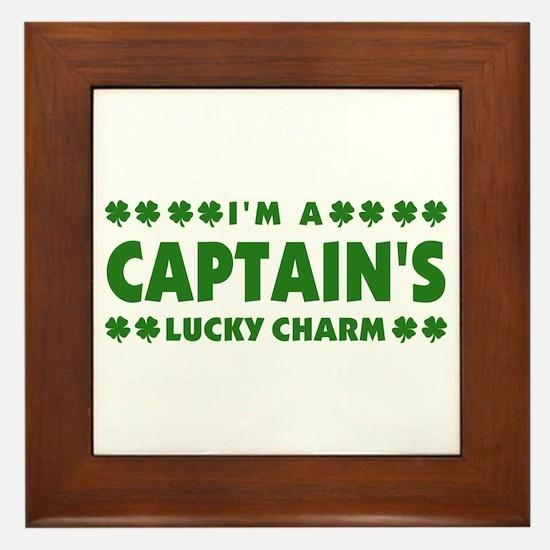 Captain's Lucky Charm Framed Tile