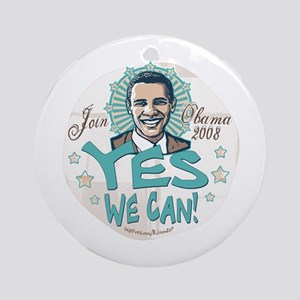 Obama Yes We Can Ornament (Round)