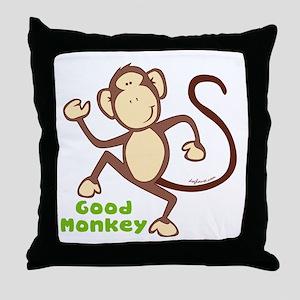 Good Monkey Throw Pillow