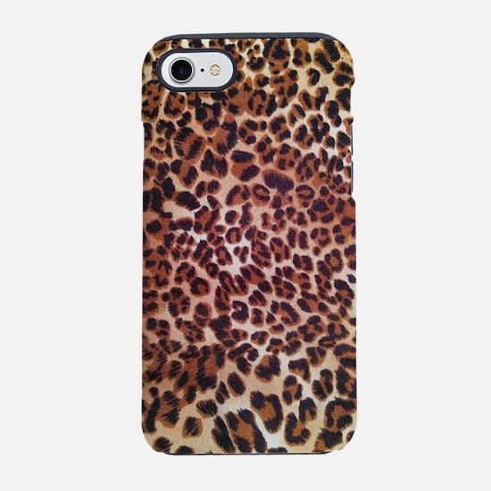 modern leopard print iPhone 8/7 Tough Case