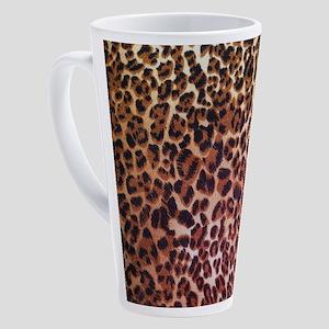 modern leopard print 17 oz Latte Mug