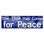 The Time Has Come For Peace sticker