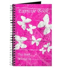 Exercise Book: Pink Butterfly Journal