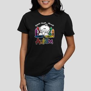 Autism Crayons Women's Dark T-Shirt