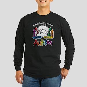 Autism Crayons Long Sleeve Dark T-Shirt