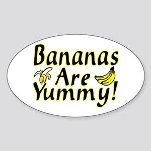 Bananas Oval Sticker