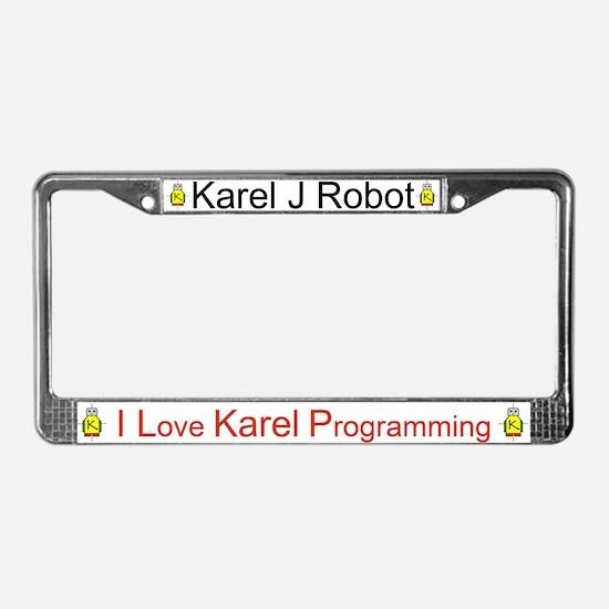 Karel J Robot License Plate Frame