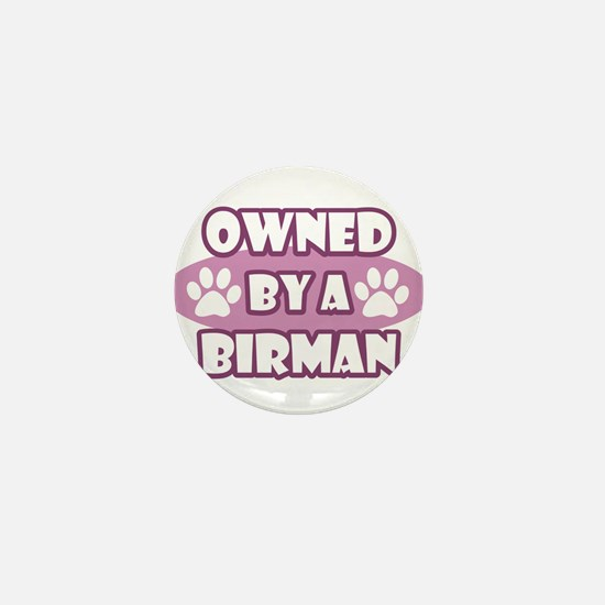 Owned By A Birman Mini Button