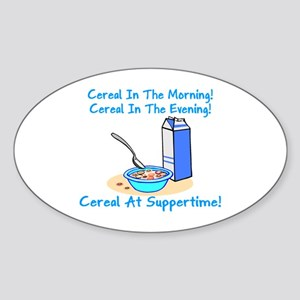 Cereal All The Time Oval Sticker