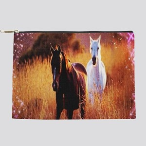 pink stars country horses Makeup Bag