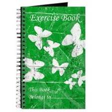 Exercise Book: Green Butterfly Journal