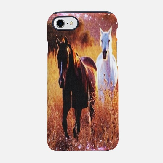 pink stars country horses iPhone 8/7 Tough Case