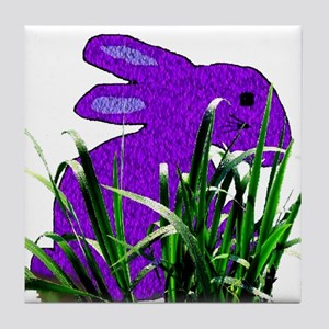 Purple Bunny Tile Coaster