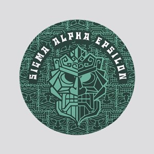 """Sigma Alpha Epsilon Beach 3.5"""" Button"""