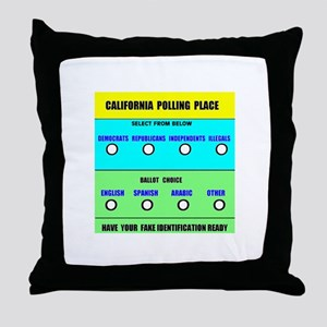 CALIFORNIA VOTERS Throw Pillow