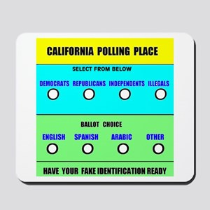 CALIFORNIA VOTERS Mousepad
