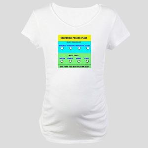 CALIFORNIA VOTERS Maternity T-Shirt